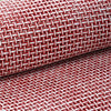 "54"" x 4 Yards Red/White Eco-Friendly Woven Upholstery Raffia Fabric By the Bolt"