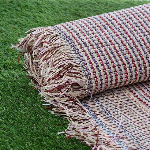 "54"" x 4 Yards Multi Color Eco-Friendly Woven Upholstery Raffia Fabric By the Bolt"