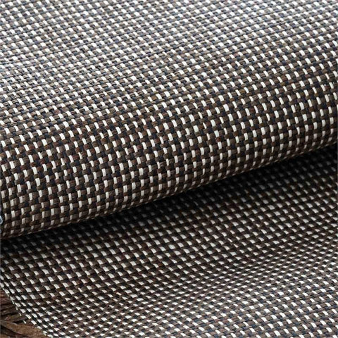 "Premium Raffia Picnic Party Upholstery Fabric Bolt By Yard - CHOCOLATE/NATURAL - 54"" x 4 Yards"