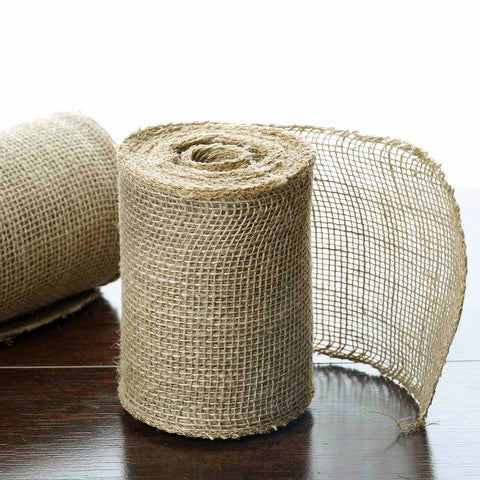 "CHAMBURY CASA Fine Rustic Burlap Roll Natural Tone 5""x10 Yards"