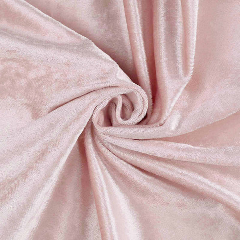 "5 Yards | Rose Gold | Blush | Velvet Fabric Bolt | 65"" Wide  Fabric Roll"