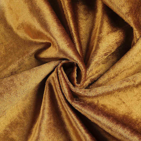 "5 Yards | Gold | Velvet Fabric Bolt | 65"" Wide Fabric Roll"