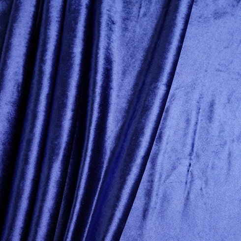"5 Yards | Royal Blue | Velvet Fabric Bolt | 65"" Wide  Fabric Roll"