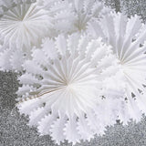"12"" Dandelion Hanging Honeycomb Tissue Fan 12/pk - White"