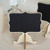 10 Pack | Mini Chalkboard Signs Food Number Display with Stand