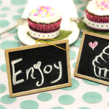 Wholesale Chalkboard Favor Place Cards For Wedding Party Events - 12pcs