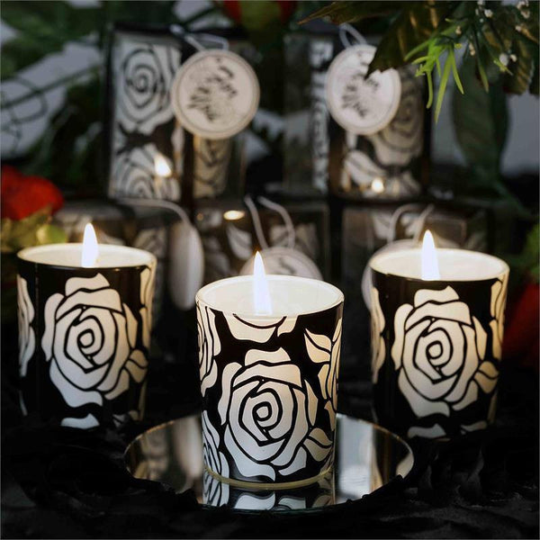 Gift Wrapped Rose Design Votive Candle Tea Light Holders