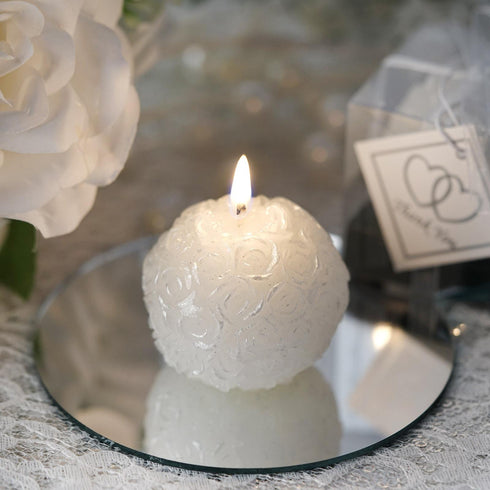THIS IS OUR MOMENT' Special Candle Ball 1pc White