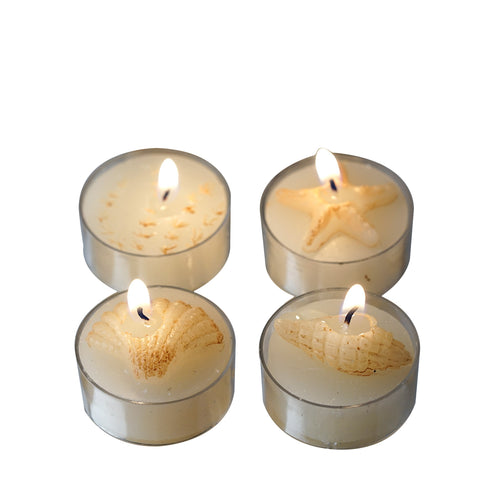 Caribbean Island Beach Candles Favors - 4/pk