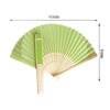 Apple Green Asian Silk Folding Fans