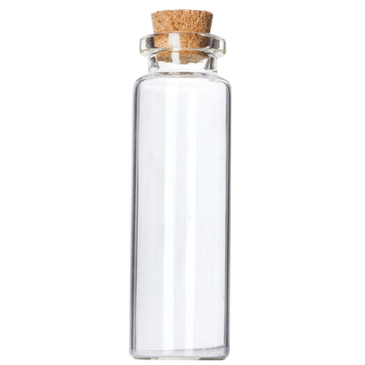 12 Pack .50 OZ Clear Glass Bottle With Cork Wedding Favor