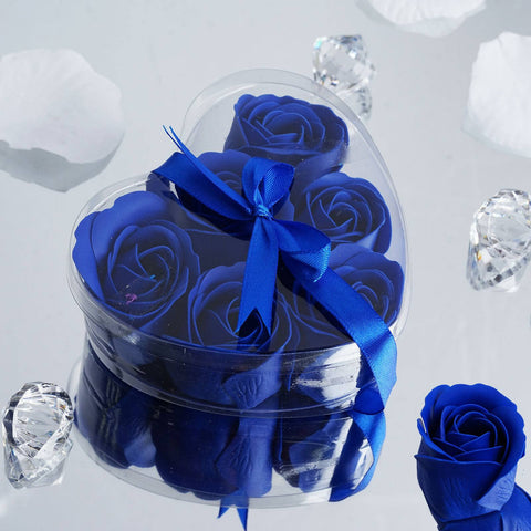 Heart Rose Soap Petals-Royal Blue
