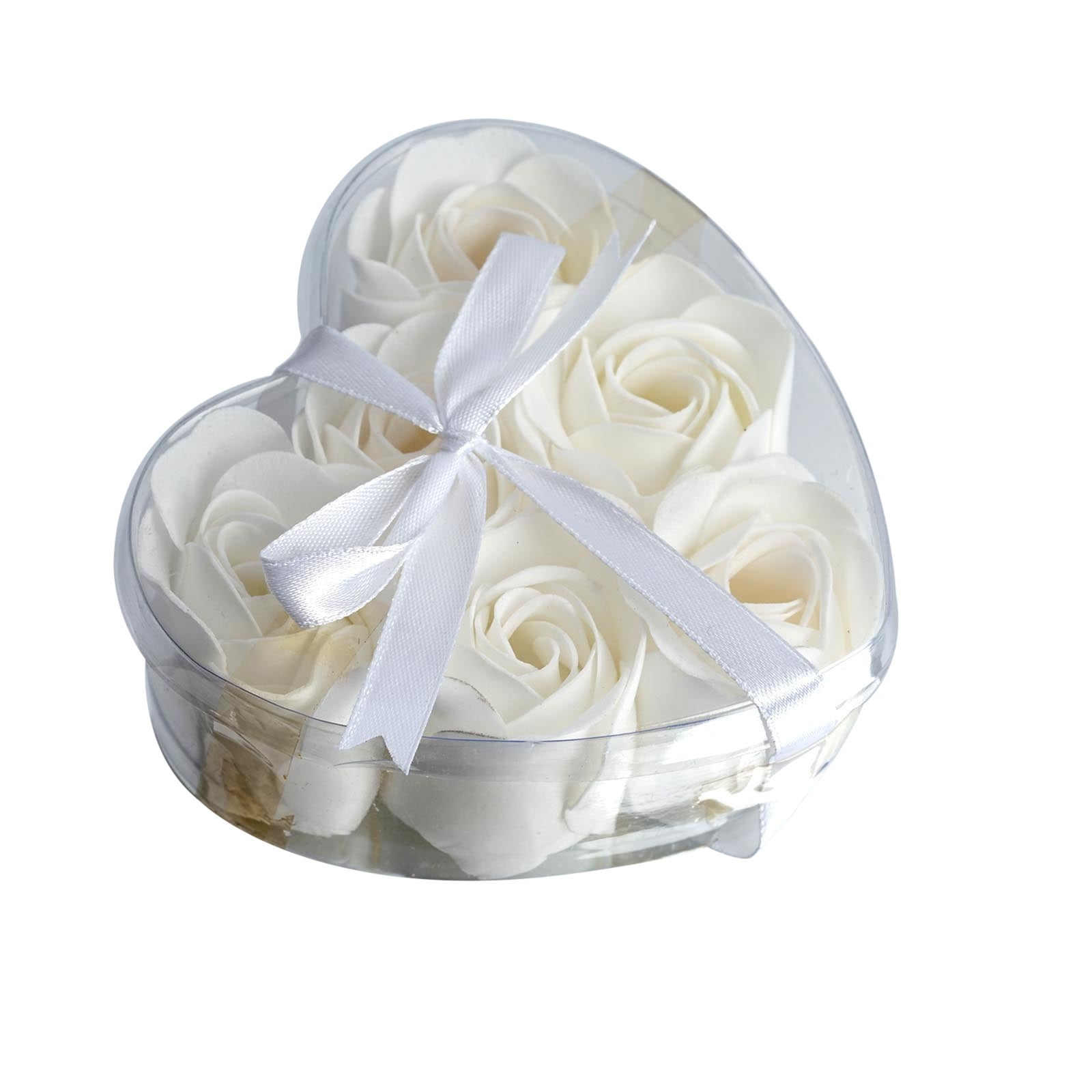 6 Pack White Scented Rose Flower Bath Shower Soap | eFavorMart