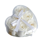 6 Pack White Scented Rose Flower Bath Shower Soap