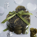 Heart Rose Soap Petals - Moss / Willow