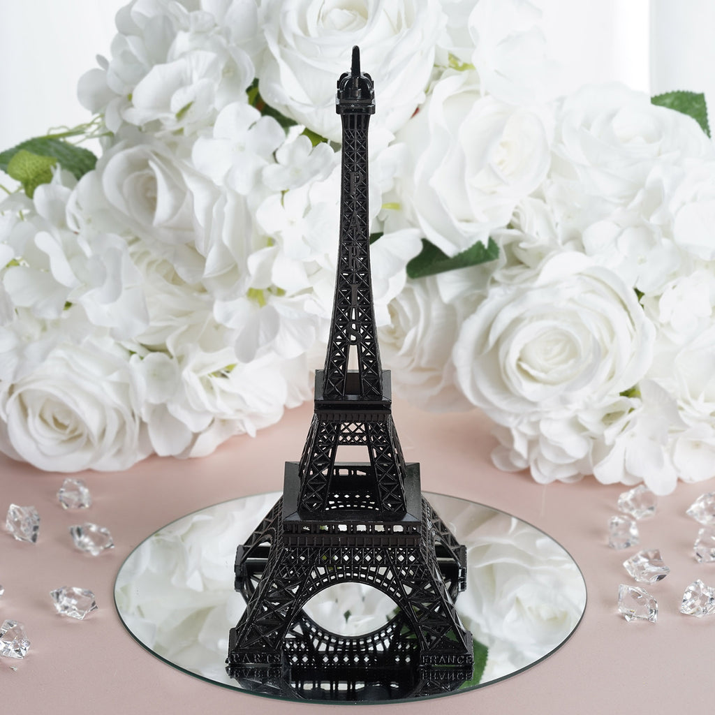 "Treasured Affection Eiffel Tower Centerpiece Black 10"" Tall"