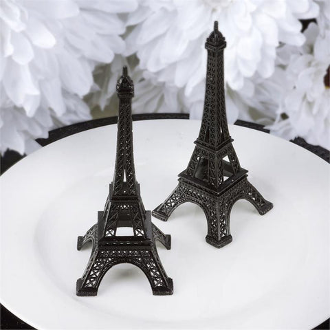 "Treasured Affection Eiffel Tower Centerpiece Black 6"" Tall"