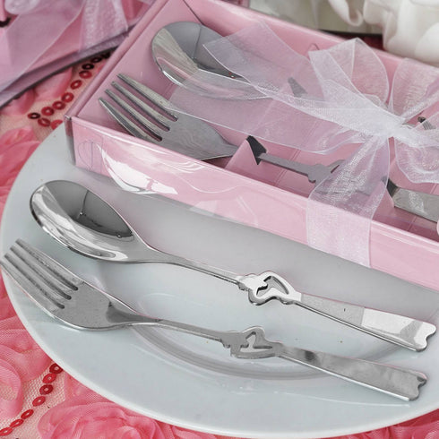 Wholesale Stainless Steel Fork & Spoon Set Wedding Party Favor Gift