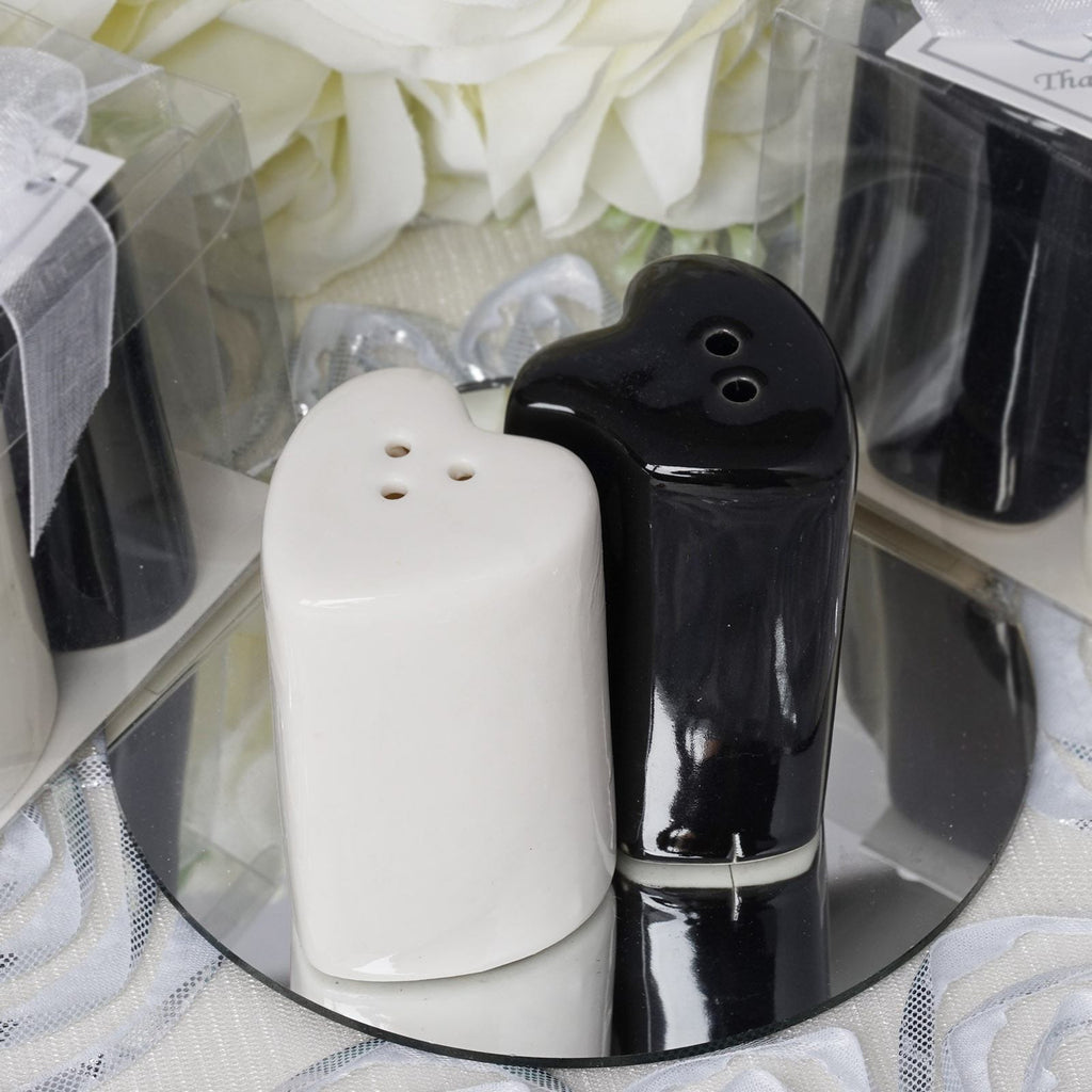 Heart Shape Salt Pepper Shakers Container Set Efavormart