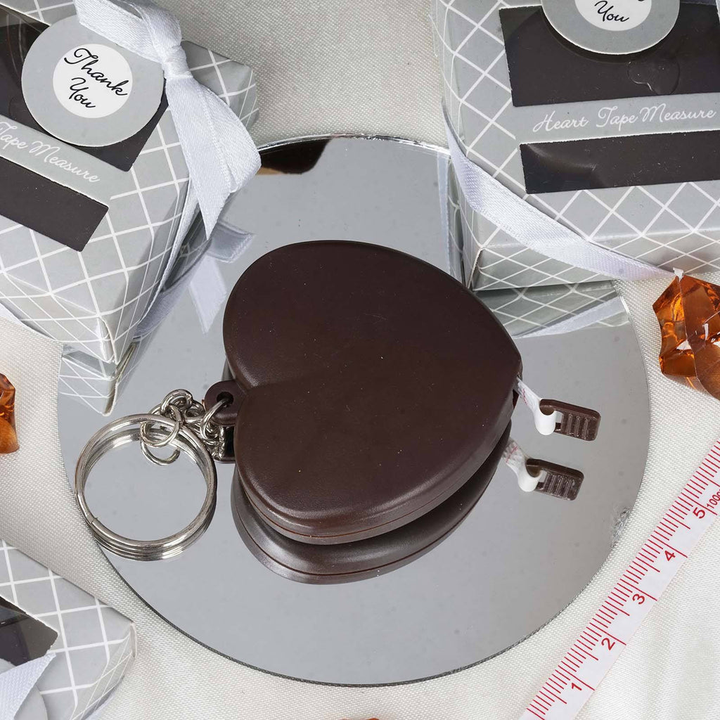 Heart Measuring Tape Favor- Chocolate