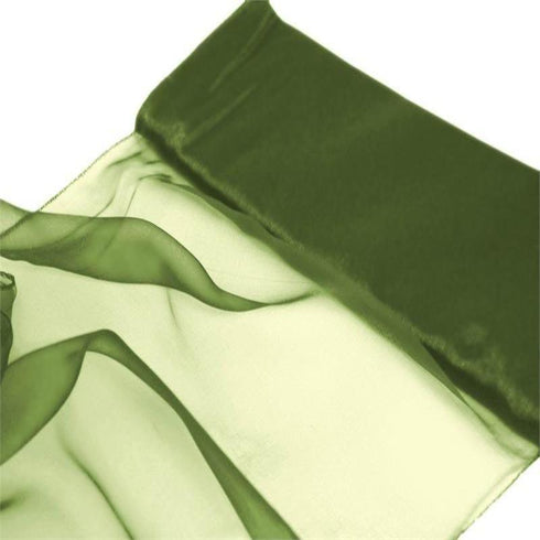 "Chiffon Fabric Bolt 12"" x 10Yards - Moss / Willow"