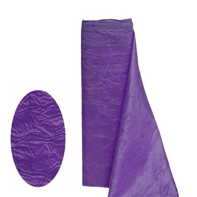 "Crinkle Taffeta Fabric Bolt 12"" x 10Yards - Purple"