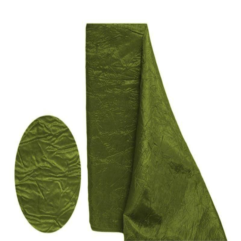 "Crinkle Taffeta Fabric Bolt 12"" x 10Yards - Moss / Willow"
