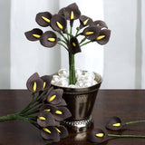 144 EXTRA TOUCH Peacock-Spread Craft Lilies- Chocolate