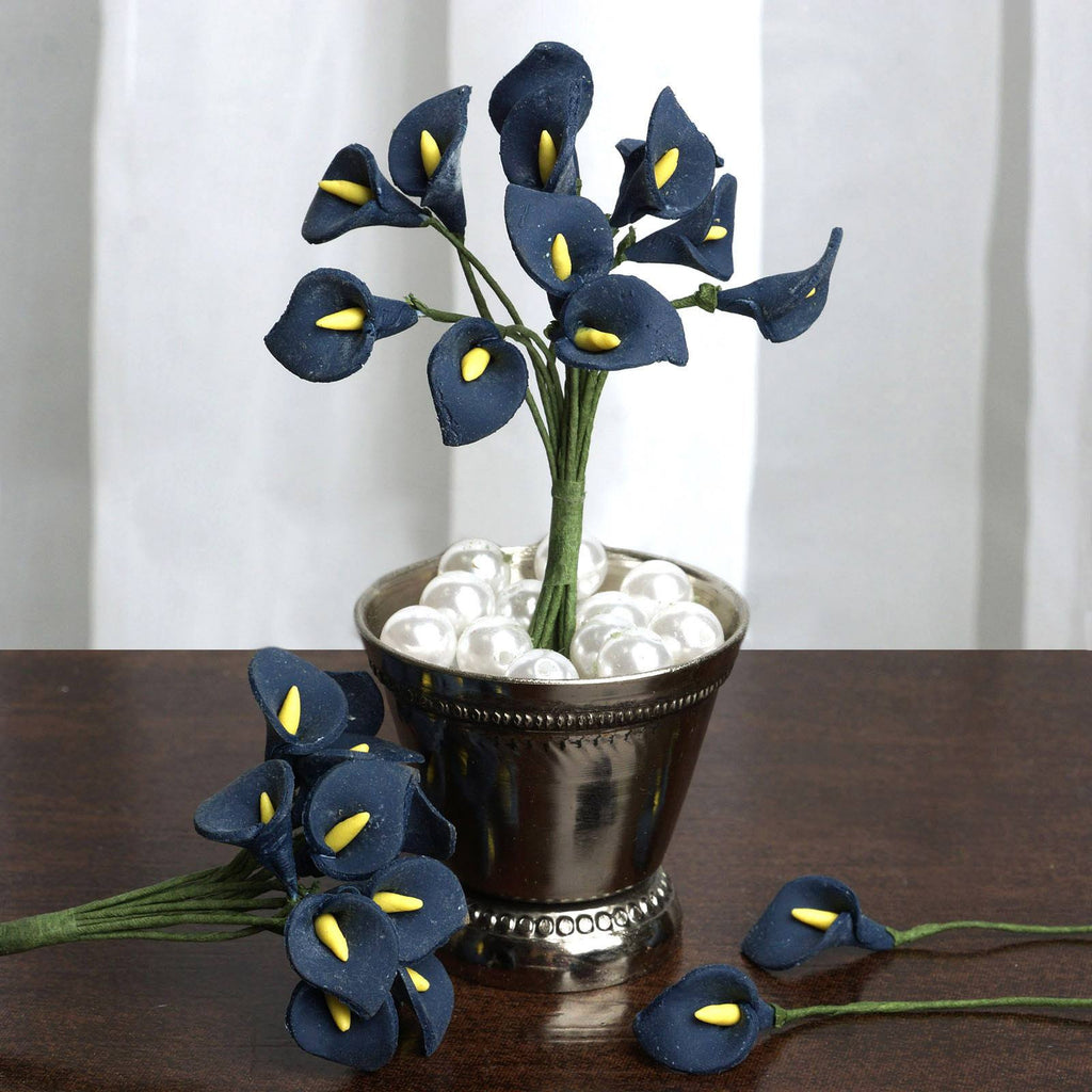 144 EXTRA TOUCH Peacock-Spread Craft Lilies- Navy
