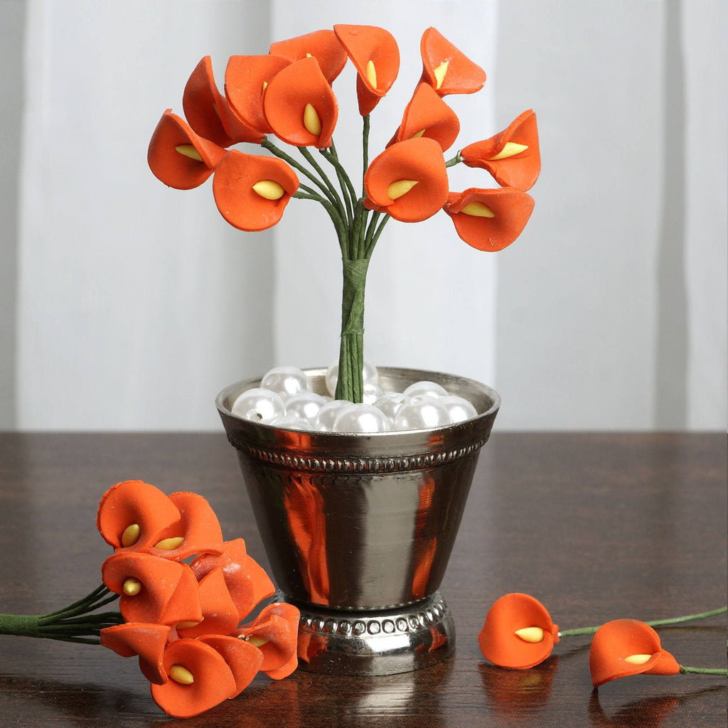 144 EXTRA TOUCH Peacock-Spread Craft Lilies- Orange