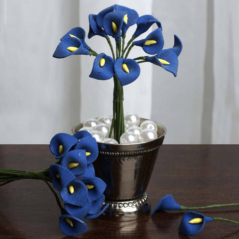 144 EXTRA TOUCH Peacock-Spread Craft Lilies- Royal Blue