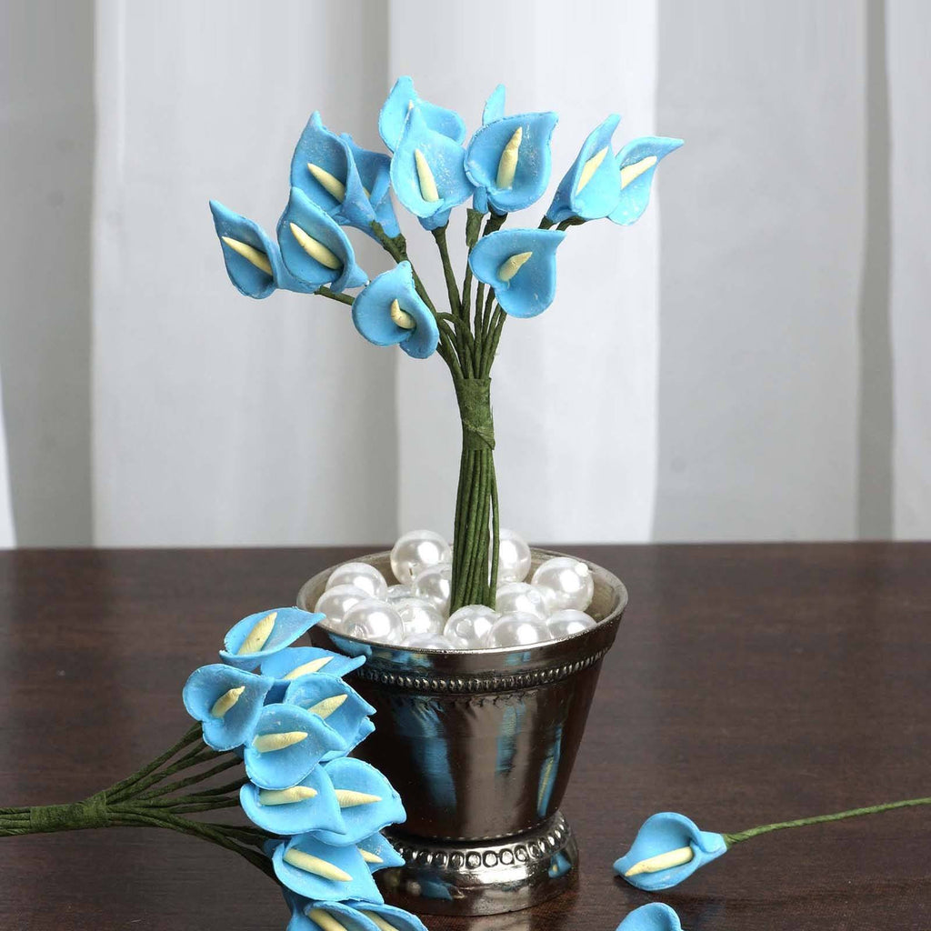 144 EXTRA TOUCH Peacock-Spread Craft Lilies- Turquoise