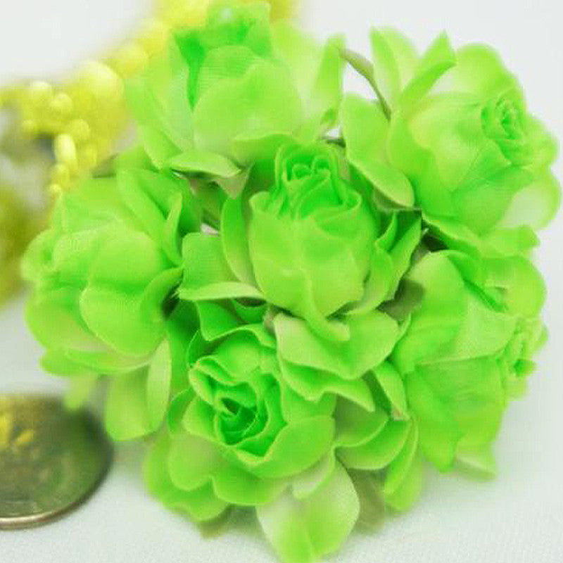 72 ITS A BEAUTIFUL LIFE Semi-Bloomed Craft Roses - Apple Green