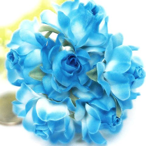 72 ITS A BEAUTIFUL LIFE Semi-Bloomed Craft Roses - Light Blue