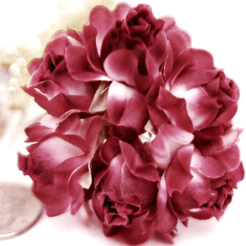 72 ITS A BEAUTIFUL LIFE Semi-Bloomed Craft Roses - Burgundy( Sold Out )
