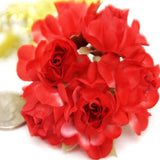12 Bundle Red Semi Bloomed Craft Roses