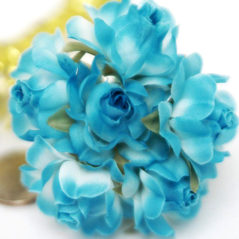 72 ITS A BEAUTIFUL LIFE Semi-Bloomed Craft Roses - Turquoise