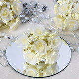 72 Artificial Yellow Shimmering Organza Craft Roses