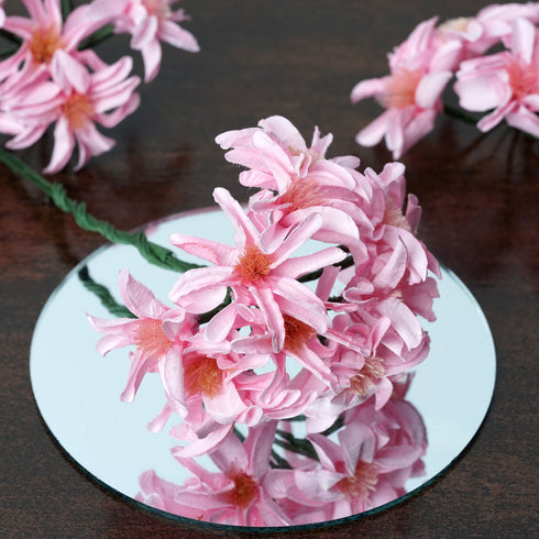 72 Poly Pink Hybrid Lily Paper Craft Flowers