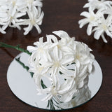 72 Poly White Hybrid Lily Paper Craft Flowers
