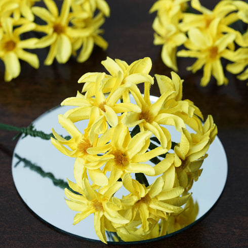72 Poly Yellow Hybrid Lily Paper Craft Flowers