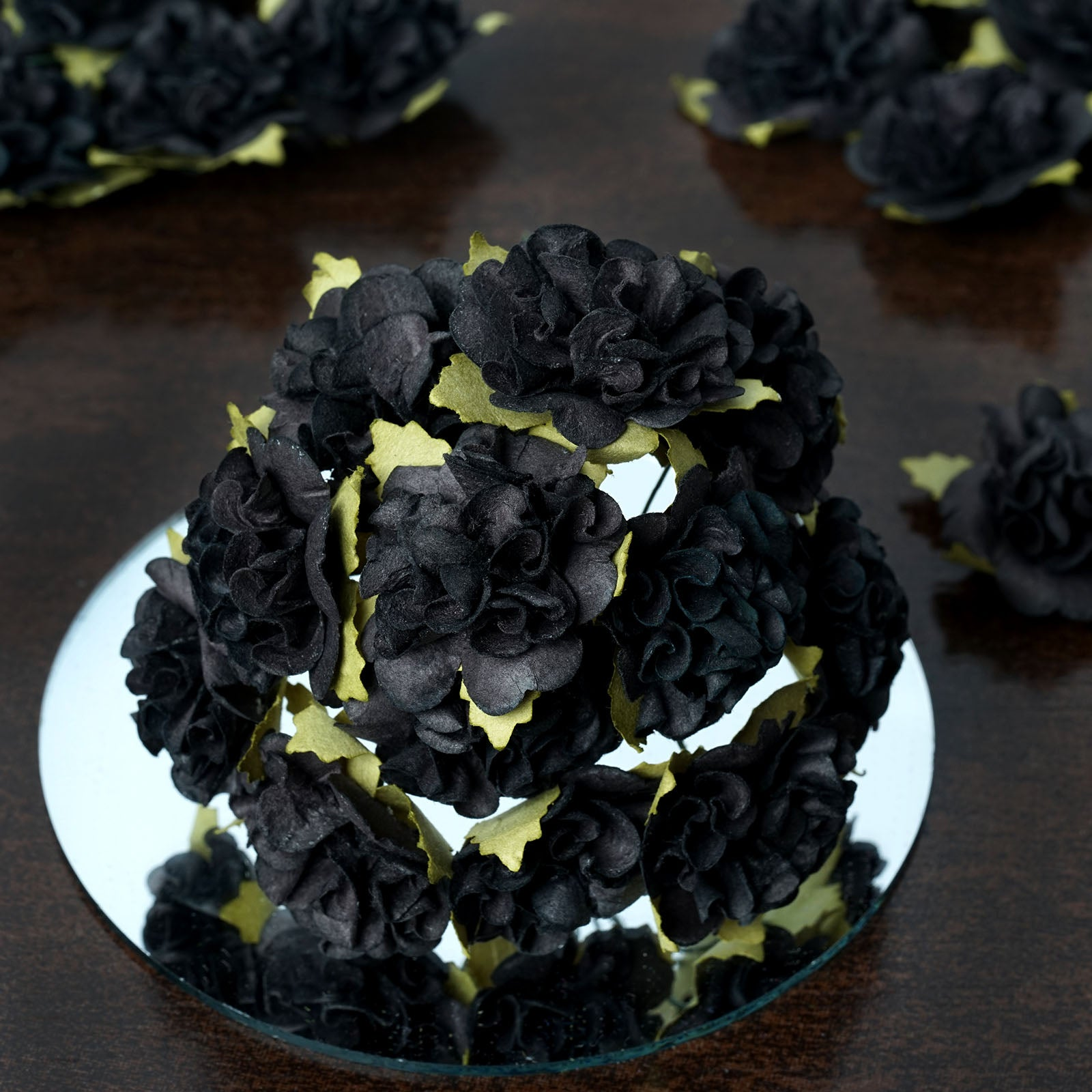 Extra Touch Craft Carnations Black 72pk Efavormart