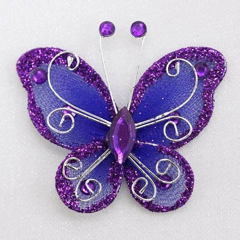 12 Diamonds & Prosperity Butterflies - Purple