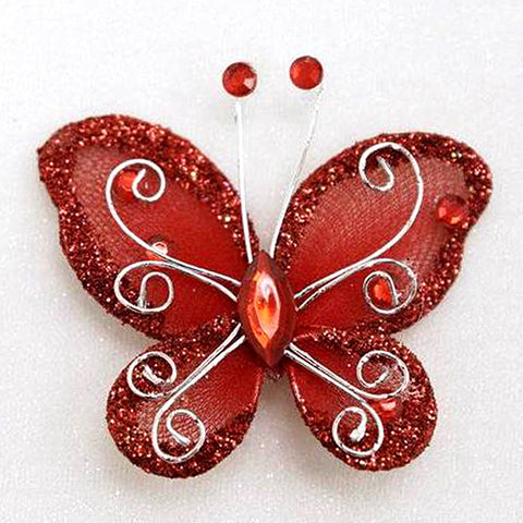 12 Diamonds & Prosperity Butterflies - Red