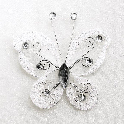 12 Diamonds & Prosperity Butterflies - White
