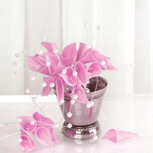 72 Artificial Floral Calla Lily Bead Flowers - Pink