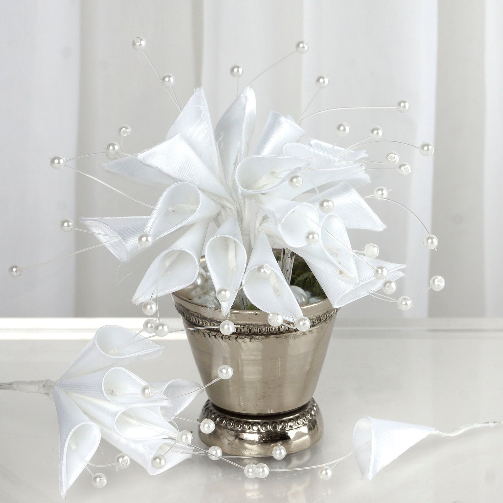 72 EXTRA HIGHLIGHTS Craft Lilies - White | eFavorMart