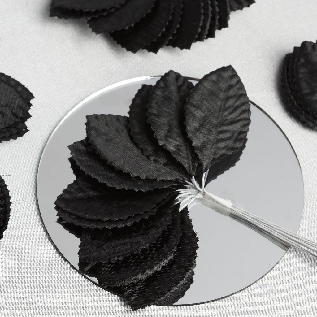 144 Burning Passion Leafs for Craft - Black