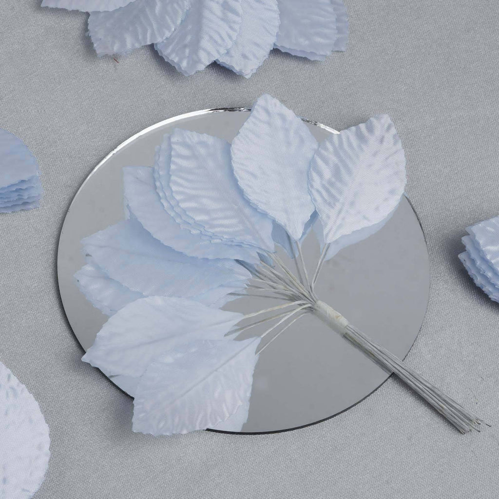144 Burning Passion Leafs for Craft - Light Blue