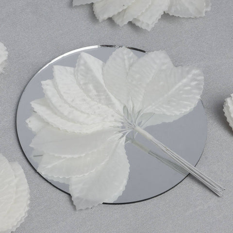 144 Burning Passion Leafs for Craft - Ivory
